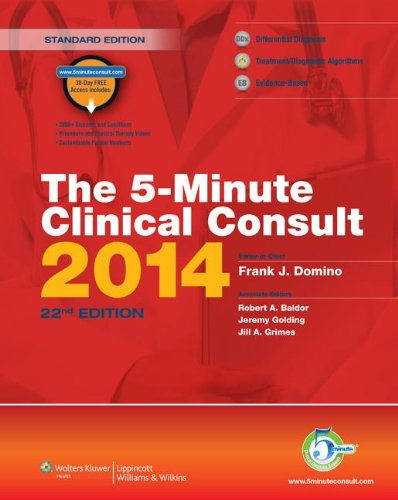5-Minute Clinical Consult 2014  22nd 2013 edition cover
