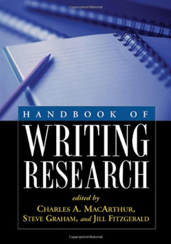 Handbook of Writing Research   2006 edition cover