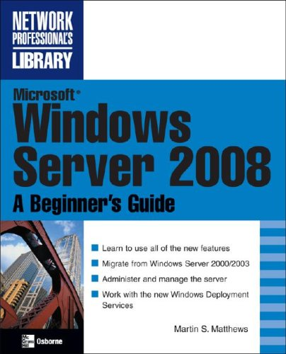 Microsoft Windows Server 2008   2008 (Revised) 9780072263510 Front Cover