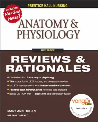 Anatomy and Physiology Reviews and Rationales  2009 edition cover