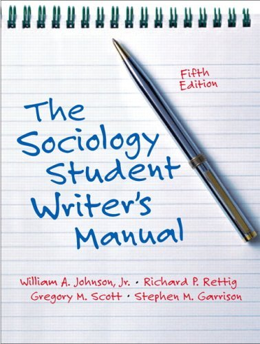 Sociology Student Writer's Manual  5th 2006 (Revised) edition cover