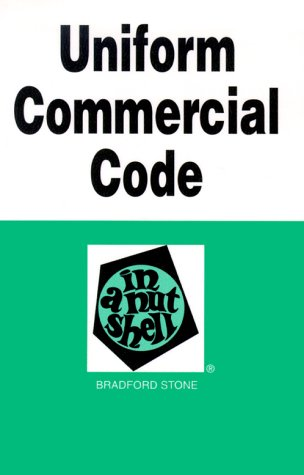 Uniform Commercial Code in a Nutshell 4th 1995 9780314053510 Front Cover