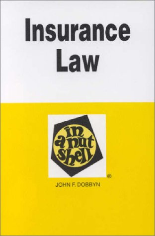Insurance Law in a Nutshell  3rd 1997 9780314066510 Front Cover