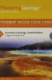 Masteringgeology With Pearson Etext Standalone Access Card for Essentials of Geology:   2014 edition cover