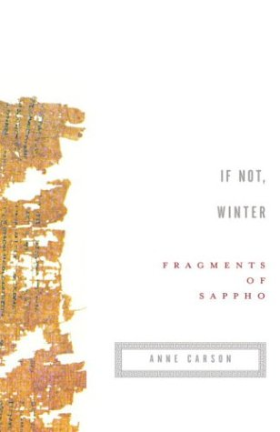 If Not, Winter Fragments of Sappho N/A edition cover