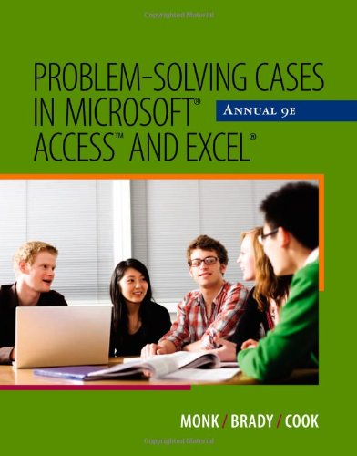 Problem Solving Cases in Microsoft Access and Excel  9th 2012 edition cover