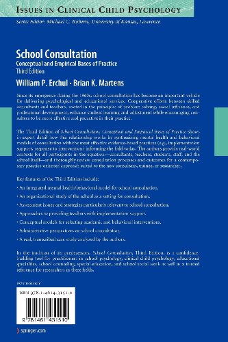 School Consultation Conceptual and Empirical Bases of Practice 3rd 2010 edition cover