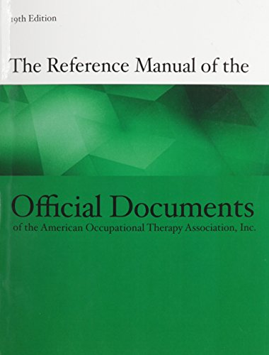 REFERENCE MAN./OFFICAL DOCUMENT OF AOTA N/A 9781569003510 Front Cover