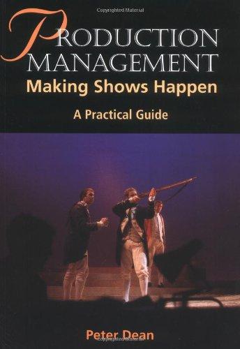 Production Management Making Shows Happen  2002 edition cover