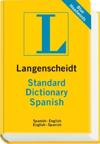 Langenscheidt Standard Dictionary Spanish   2011 9783468980510 Front Cover