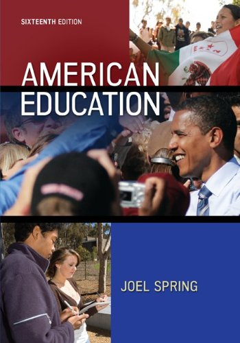 American Education 16th 2013 9780078024511 Front Cover