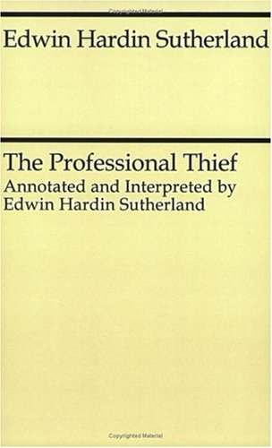 Professional Thief  Reprint  9780226780511 Front Cover