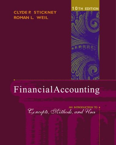 Financial Accounting An Introduction to Concepts, Methods, and Uses 10th 2003 edition cover