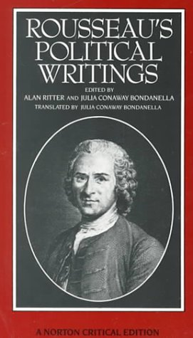 Rousseau's Political Writings   1988 edition cover