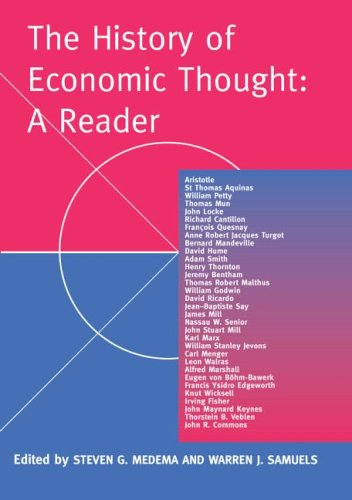 History of Economic Thought A Reader  2003 edition cover