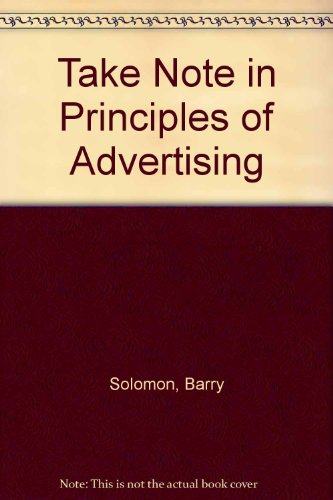 Take Note in Principles of Advertising 2nd (Revised) 9780757561511 Front Cover
