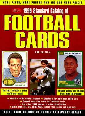 1999 Standard Catalog of Football Cards 2nd 1998 9780873416511 Front Cover