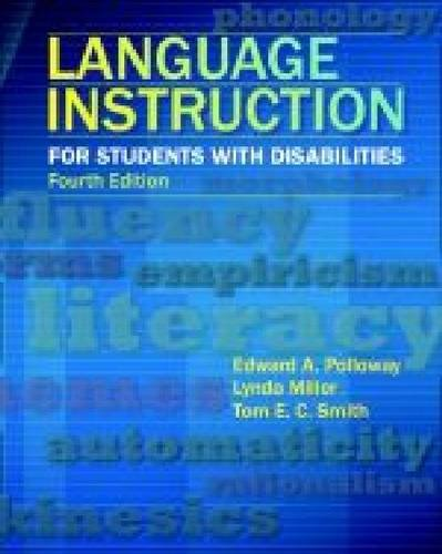 Language Instruction for Students with Disabilities  4th 2012 9780891083511 Front Cover