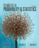 Introduction to Probability and Statistics  14th 2013 9781133111511 Front Cover