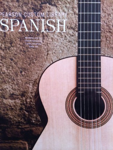 PEARSON CUSTOM LIBRARY-SPANISH >CUSTOM< N/A 9781269250511 Front Cover