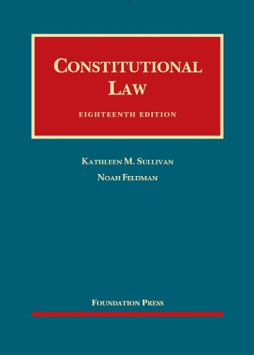 Constitutional Law:   2013 edition cover