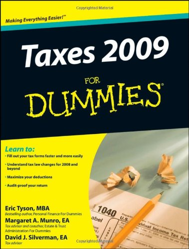 Taxes 2009   2009 9780470249512 Front Cover