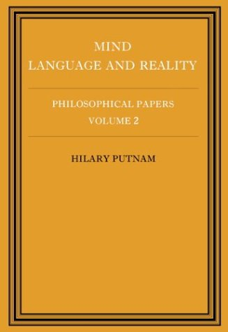 Philosophical Papers Mind, Language and Reality  1979 9780521295512 Front Cover