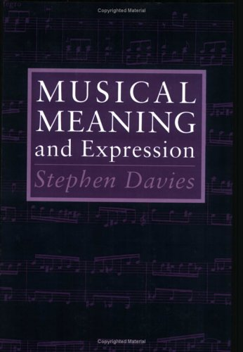 Musical Meaning and Expression   1994 edition cover