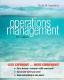 Operations Management  5th 2013 edition cover