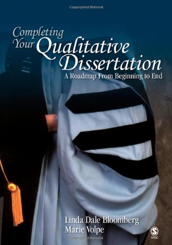Completing Your Qualitative Dissertation A Roadmap from Beginning to End  2008 edition cover