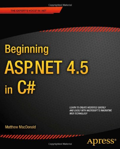 Beginning ASP. NET 4. 5 in C#  5th 2012 edition cover