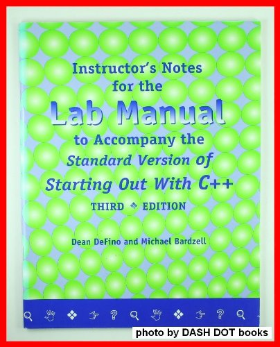 Starting Out with C++ 3rd 2001 (Lab Manual) 9781576760512 Front Cover