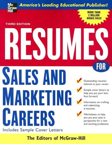 Resumes for Sales and Marketing Careers  3rd 2005 (Revised) 9780071438513 Front Cover