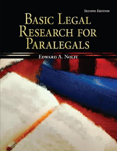 Basic Legal Research for Paralegals  2nd 2008 edition cover