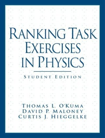 Ranking Task Exercises in Physics   2004 (Student Manual, Study Guide, etc.) edition cover