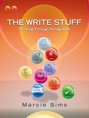 Write Stuff Thinking Through Paragraphs  2012 edition cover