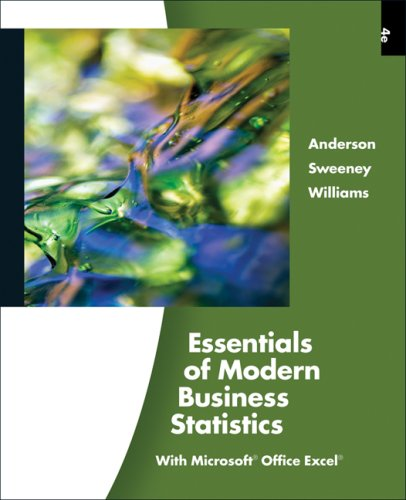 Essentials of Modern Business Statistics (with Online Material Printed Access Card)  4th 2009 edition cover