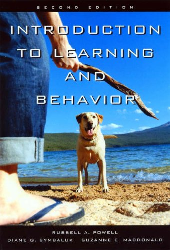 Introduction to Learning and Behavior  2nd 2005 (Revised) edition cover