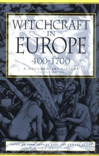 Witchcraft in Europe, 400-1700 A Documentary History 2nd 2001 (Revised) edition cover