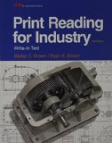 Print Reading for Industry Write-In Text 10th 2016 edition cover