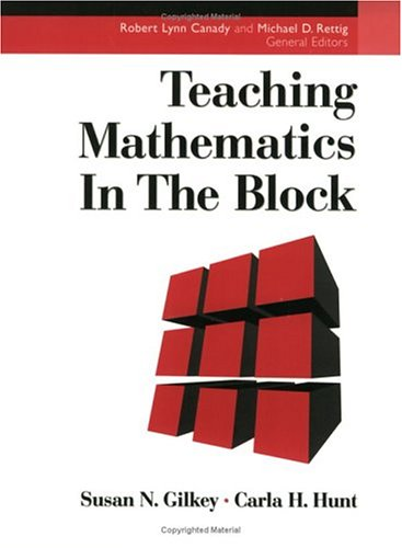 Teaching Mathematics in the Block   1998 edition cover