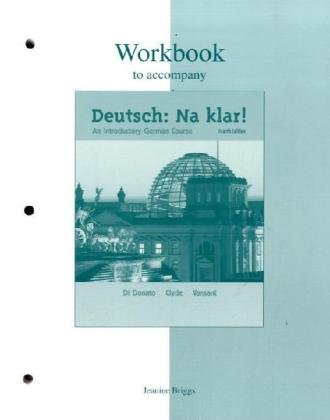 Deutsch:Na klar An Introductory German Course 4th 2004 (Revised) 9780072492514 Front Cover