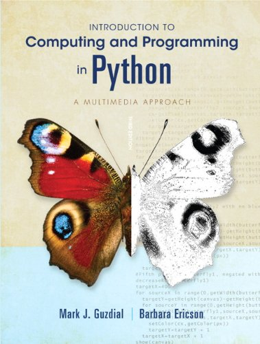 Introduction to Computing and Programming in Python  3rd 2013 (Revised) edition cover