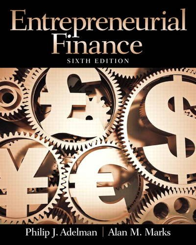 Entrepreneurial Finance  6th 2014 9780133140514 Front Cover