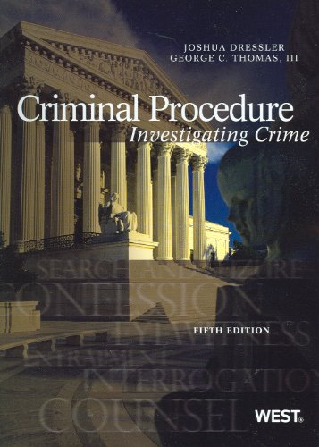 Criminal Procedure: Investigating Crime  2012 9780314279514 Front Cover