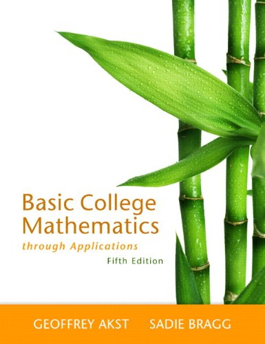 Basic College Mathematics Through Applications  5th 2013 edition cover