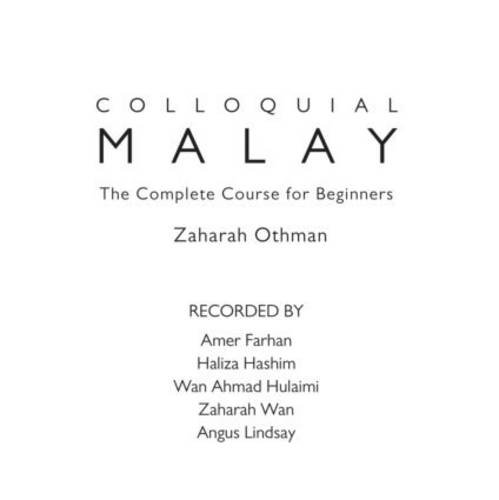 Colloquial Malay: The Complete Course for Beginners  2011 edition cover