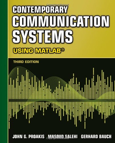 Contemporary Communication Systems Using MATLAB  3rd 2013 edition cover