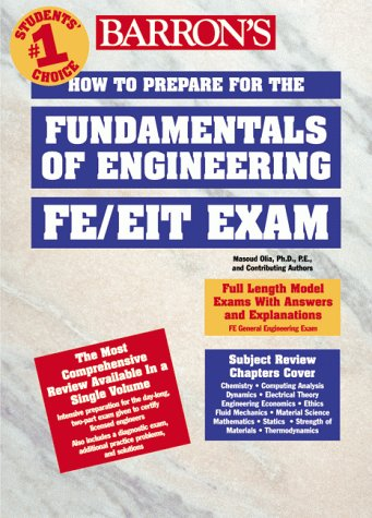 How to Prepare for the Fundamentals of Engineering FE/FEIT Exam  1999 9780764106514 Front Cover