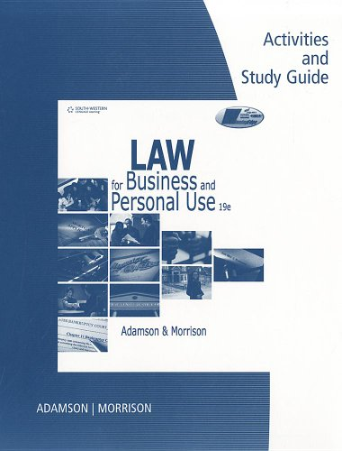 Law for Business and Personal Use Law for Business and Personal Use  19th 2012 edition cover
